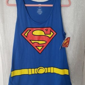 Halloween Superman Top w/ Cape
